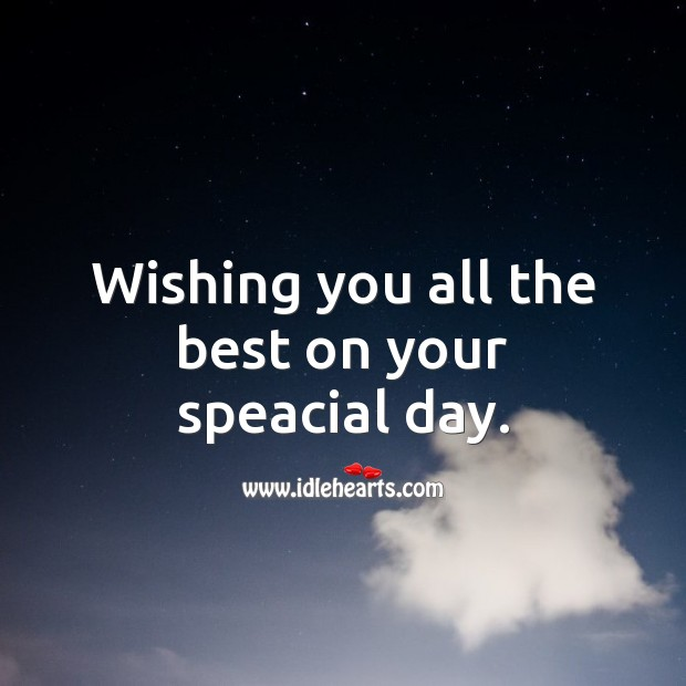 Wishing you all the best on your speacial day. Happy Birthday Wishes Image