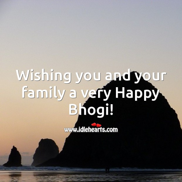 Wishing you and your family a very Happy Bhogi! Bhogi Wishes Image