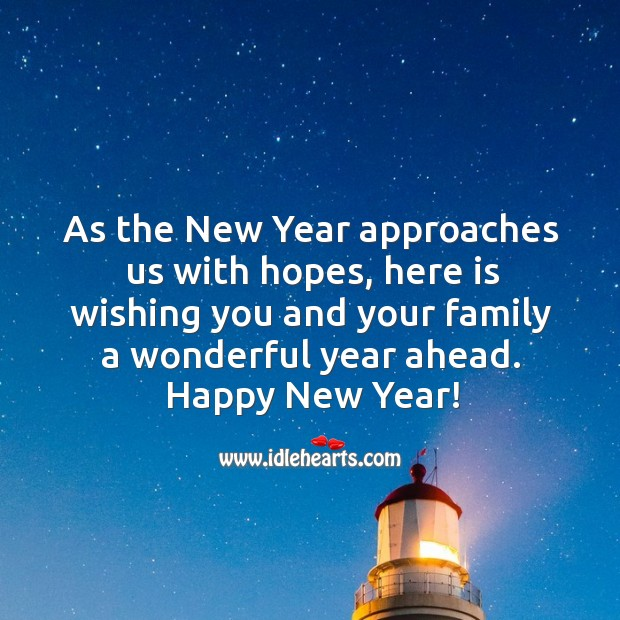 Image, Wishing you and your family a wonderful year.