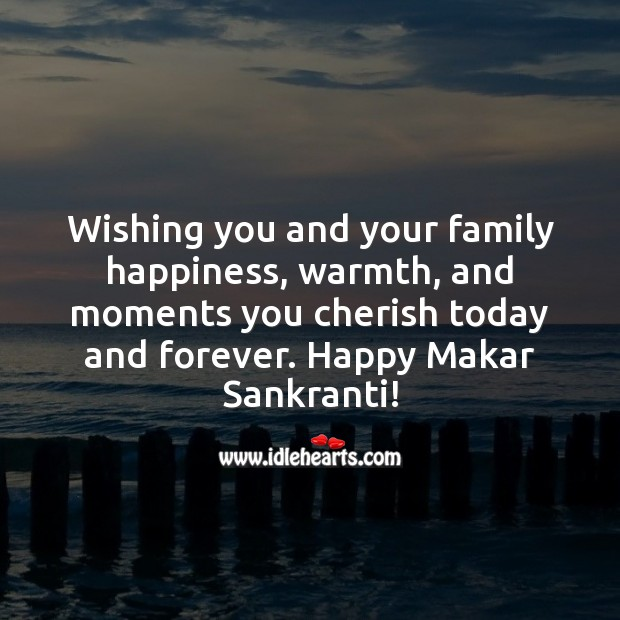 Wishing you and your family Happy Makar Sankranti! Wishing You Messages Image