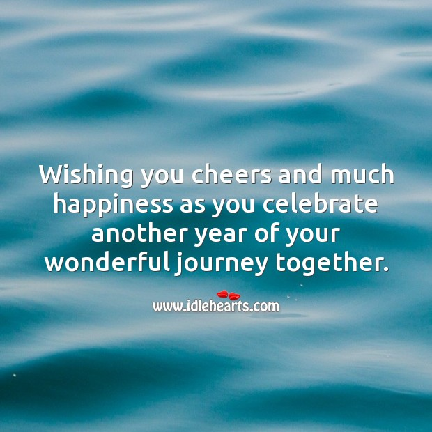 Wishing you another year of your wonderful journey together. Celebrate Quotes Image