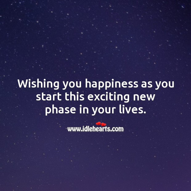 Wishing you happiness as you start this exciting new phase in your lives. Wishing You Messages Image