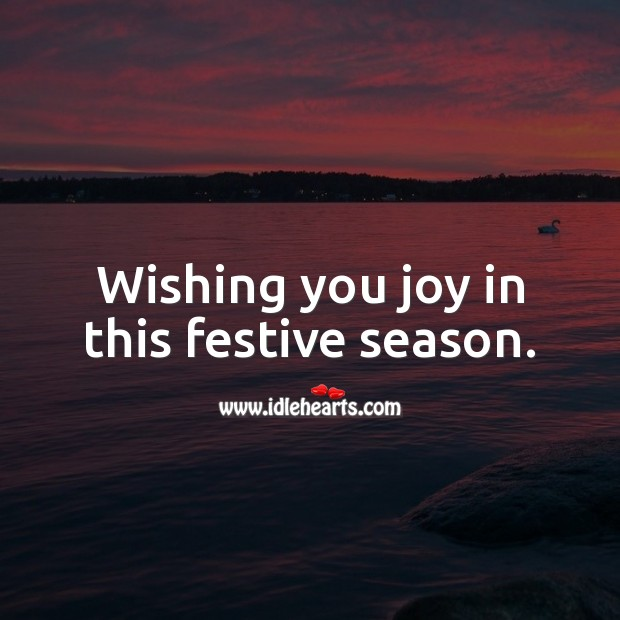 Wishing you joy in this festive season. Holiday Messages Image