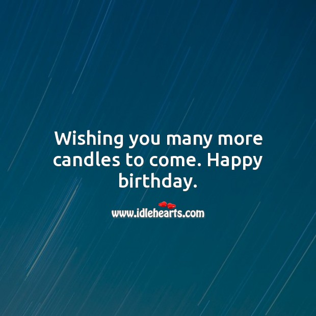 Wishing you many more candles to come. Happy birthday. Happy Birthday Wishes Image