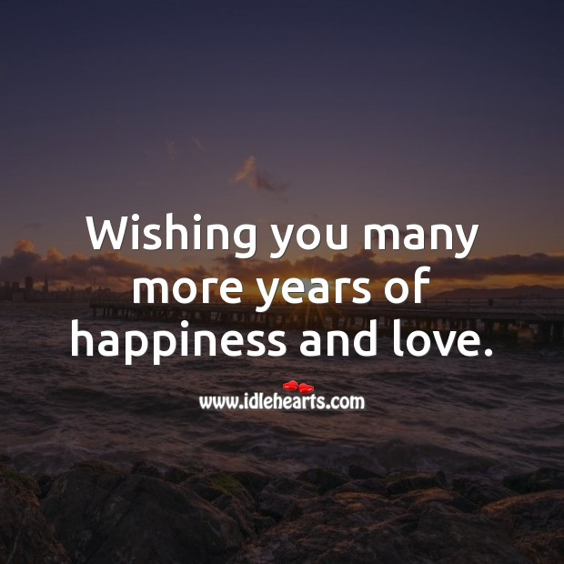 Wishing you many more years of happiness and love. Image