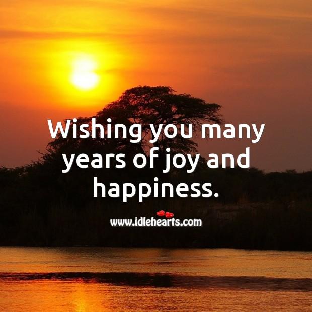 Wishing you many years of joy and happiness. Image