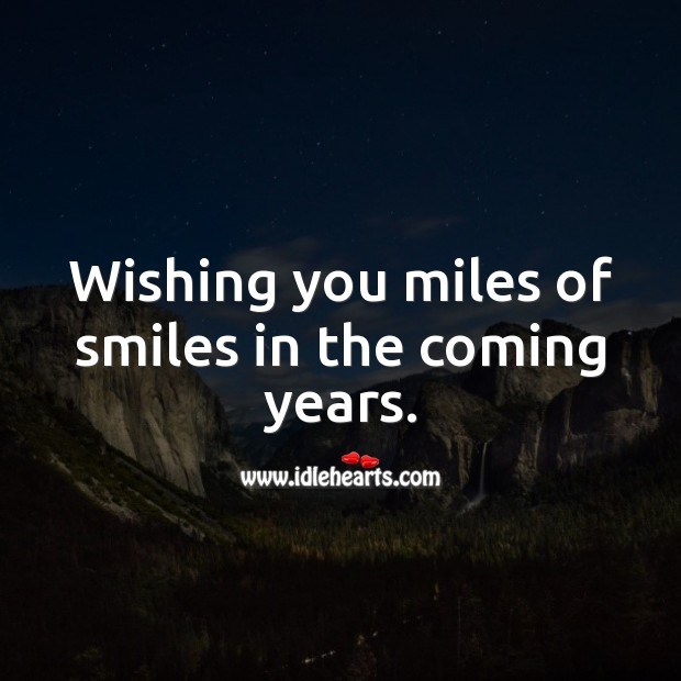 Wishing you miles of smiles in the coming years. Happy Birthday Wishes Image