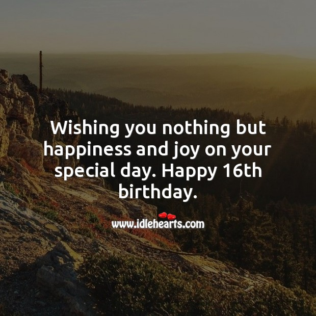 Wishing you nothing but happiness and joy on your special day. Wishing You Messages Image
