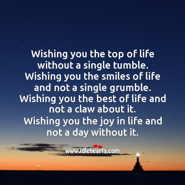 Wishing you the best of life Smile Messages Image