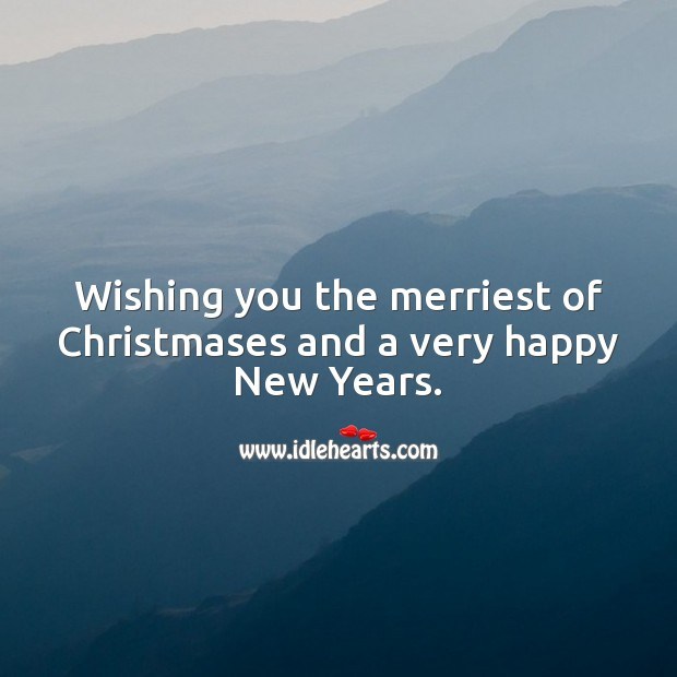 Wishing you the merriest of Christmas Christmas Messages Image
