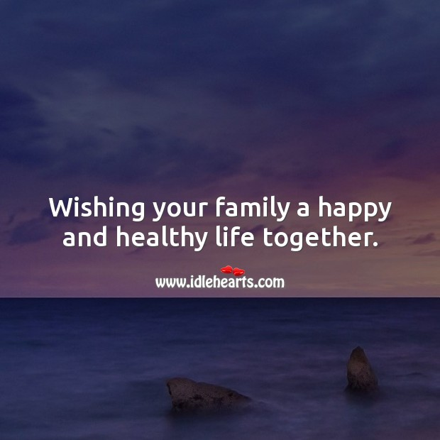 Wishing your family a happy and healthy life together. Baby Shower Messages Image