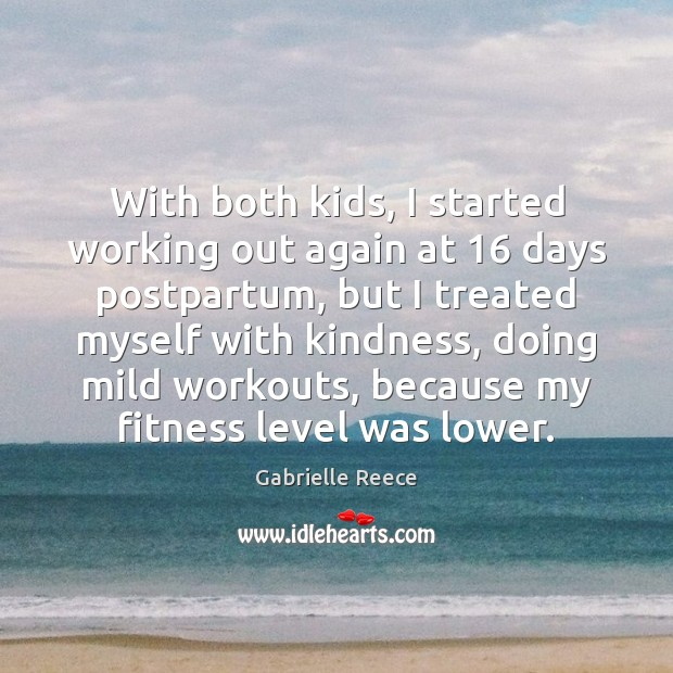 With both kids, I started working out again at 16 days postpartum, but Fitness Quotes Image