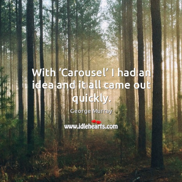 With 'carousel' I had an idea and it all came out quickly. Image