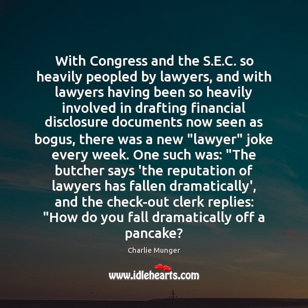 With Congress and the S.E.C. so heavily peopled by lawyers, Image