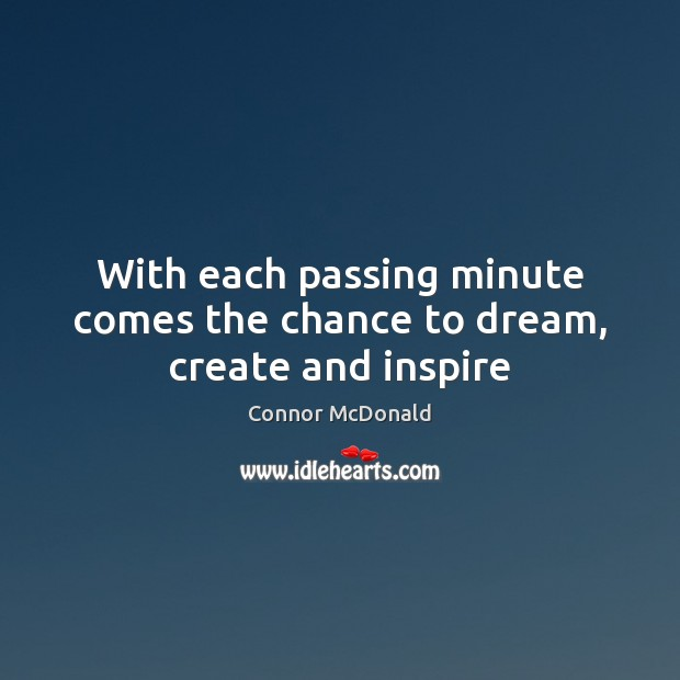 With each passing minute comes the chance to dream, create and inspire Image