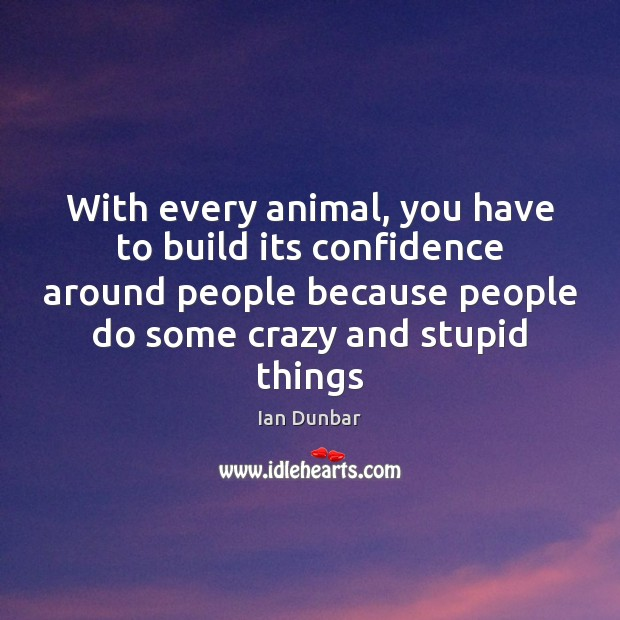With every animal, you have to build its confidence around people because Image