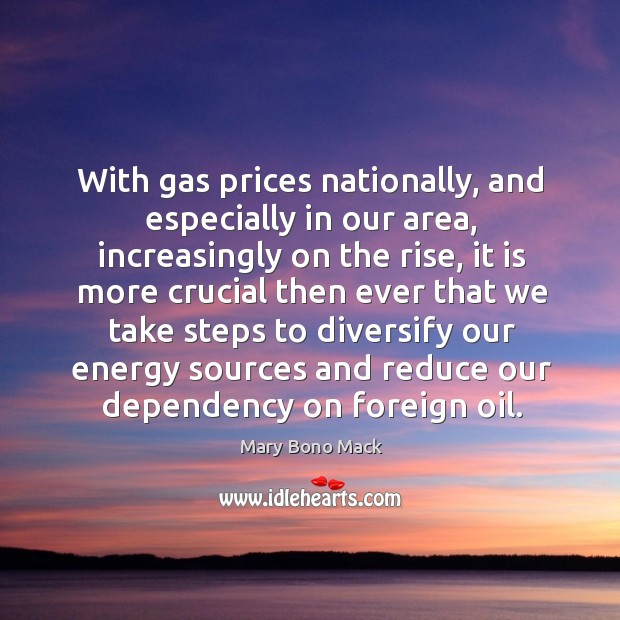 With gas prices nationally, and especially in our area, increasingly on the rise Image