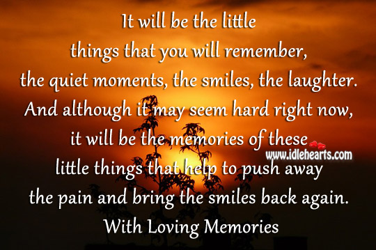 Push away the pain and bring the smiles back again. Image
