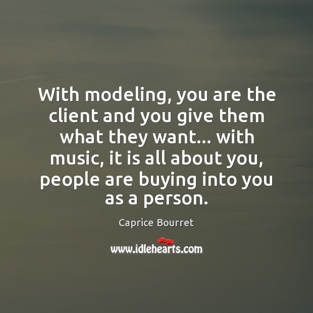 Image, With modeling, you are the client and you give them what they