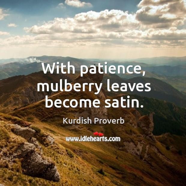 Image, With patience, mulberry leaves become satin.