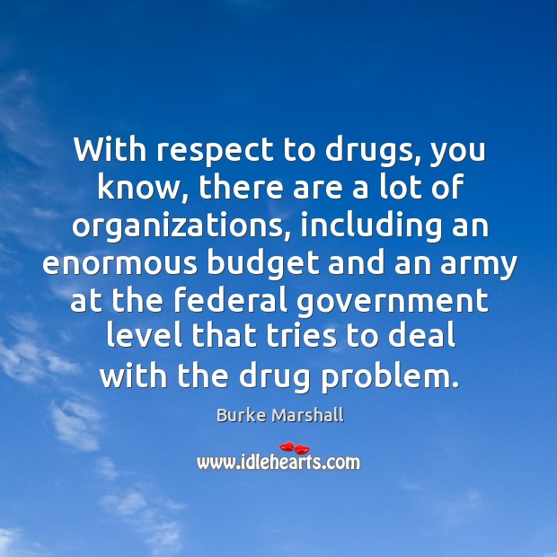 Image, With respect to drugs, you know, there are a lot of organizations, including an enormous