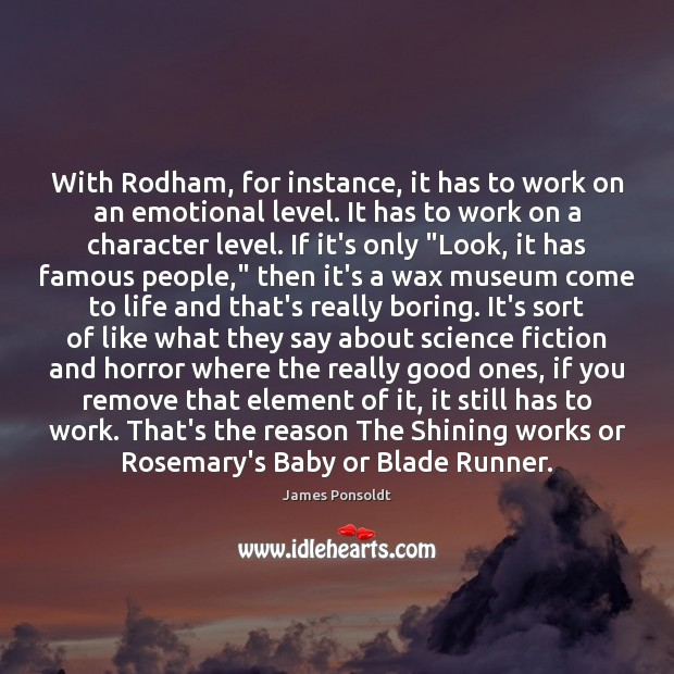 With Rodham, for instance, it has to work on an emotional level. Image