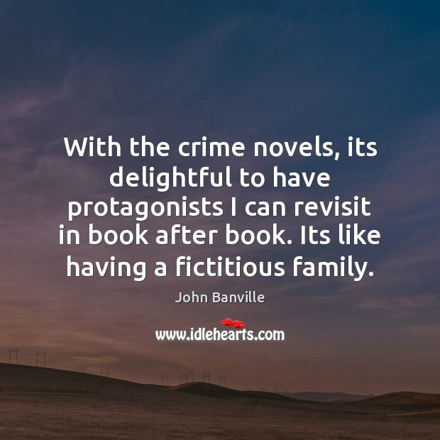Image about With the crime novels, its delightful to have protagonists I can revisit