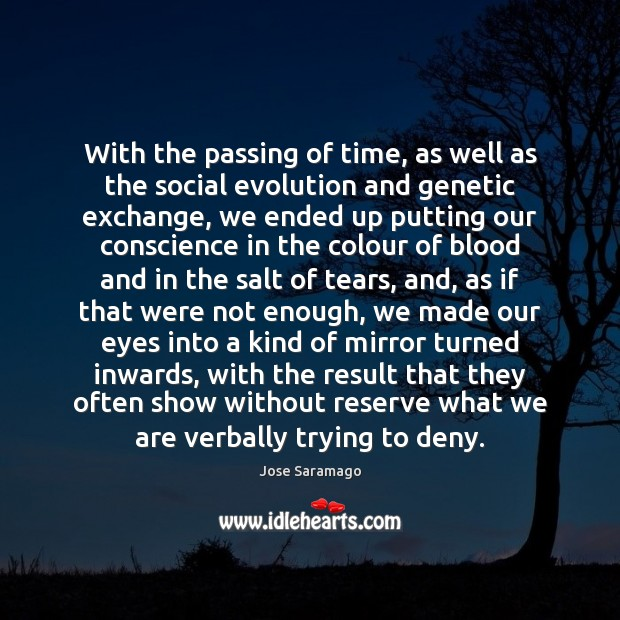 Image, With the passing of time, as well as the social evolution and