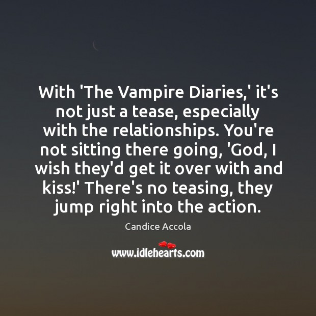 Image, With 'The Vampire Diaries,' it's not just a tease, especially with