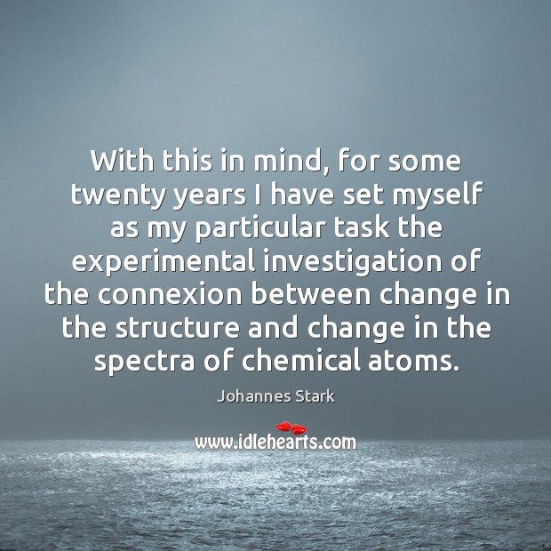With this in mind, for some twenty years I have set myself as my particular task the experimental Image