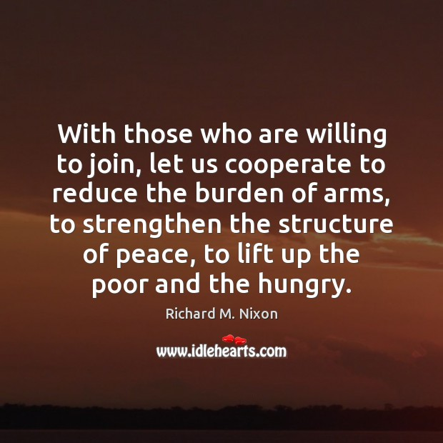 Image, With those who are willing to join, let us cooperate to reduce