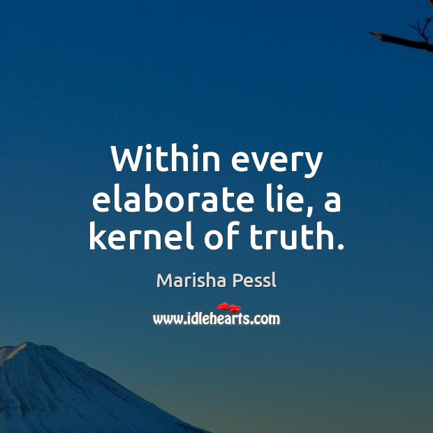 Within every elaborate lie, a kernel of truth. Lie Quotes Image