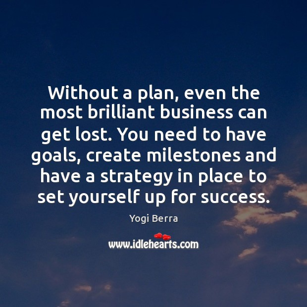 Without a plan, even the most brilliant business can get lost. You Image
