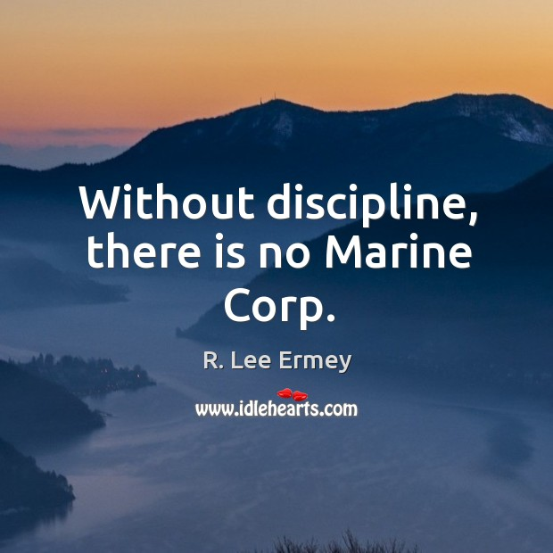 Without discipline, there is no marine corp. Image
