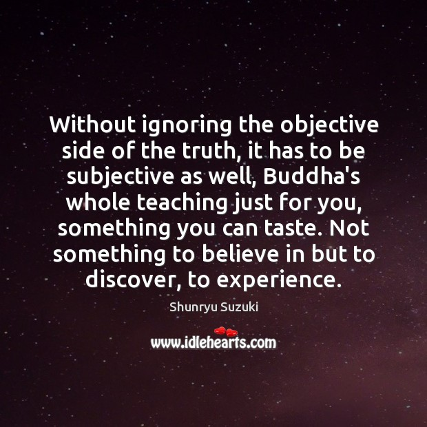 Without ignoring the objective side of the truth, it has to be Image