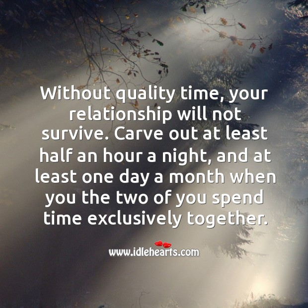Image, Without quality time, your relationship will not survive.