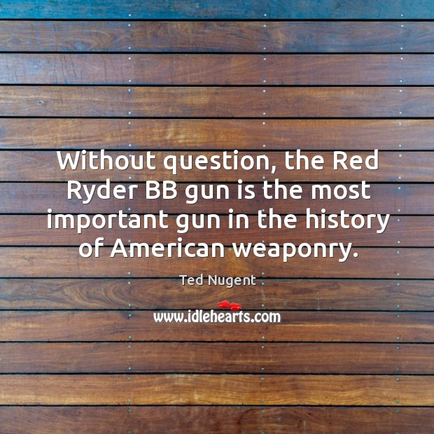 Without question, the Red Ryder BB gun is the most important gun Image