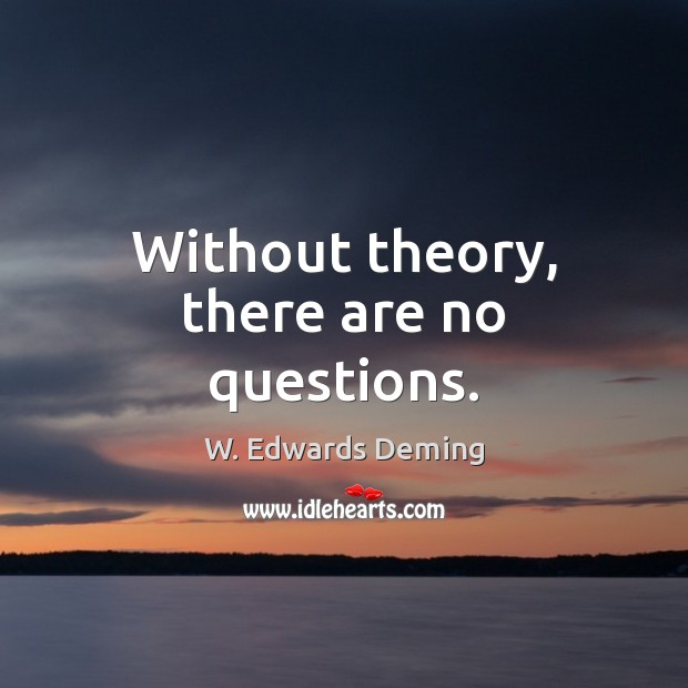 Without theory, there are no questions. W. Edwards Deming Picture Quote