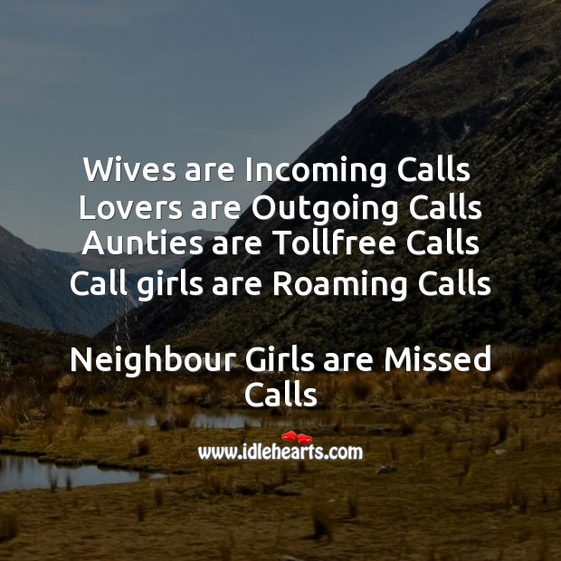 Wives are incoming calls Funny Messages Image