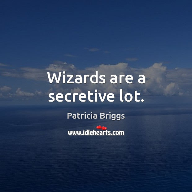 Wizards are a secretive lot. Image