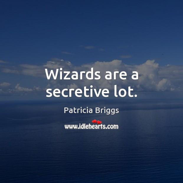Wizards are a secretive lot. Patricia Briggs Picture Quote