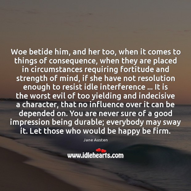 Woe betide him, and her too, when it comes to things of Image