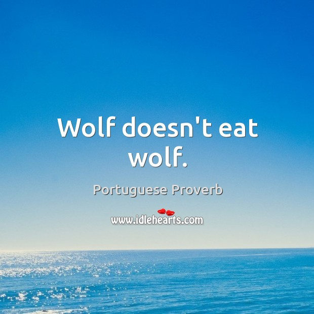 Wolf doesn't eat wolf. Image