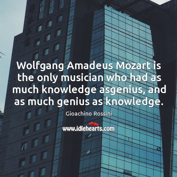 Image, Wolfgang Amadeus Mozart is the only musician who had as much knowledge