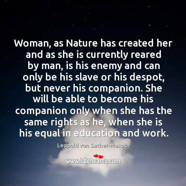 Woman, as Nature has created her and as she is currently reared Image