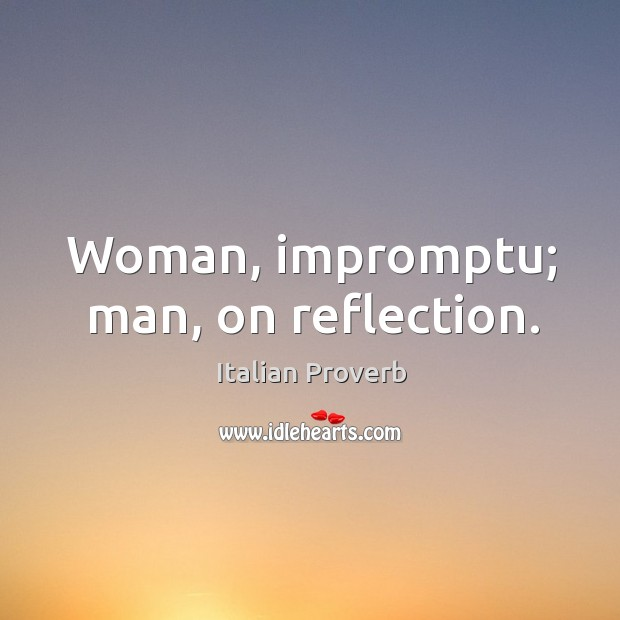 Image, Woman, impromptu; man, on reflection.