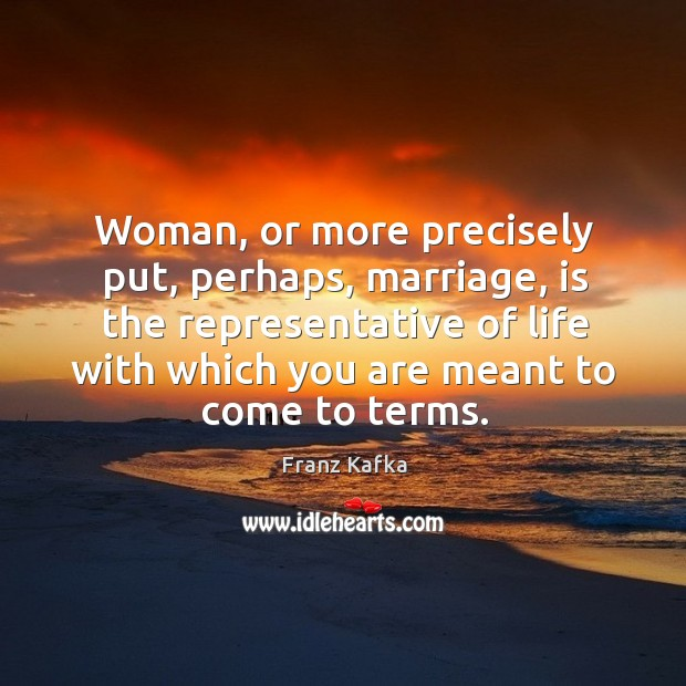 Woman, or more precisely put, perhaps, marriage Image