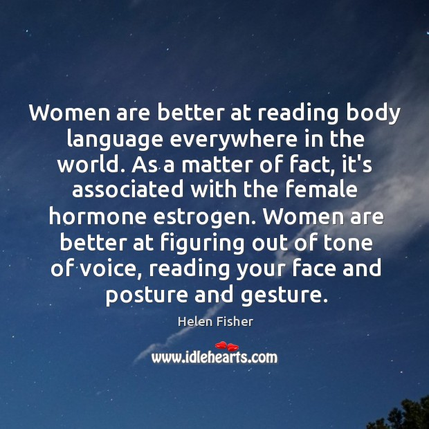 Women are better at reading body language everywhere in the world. As Image