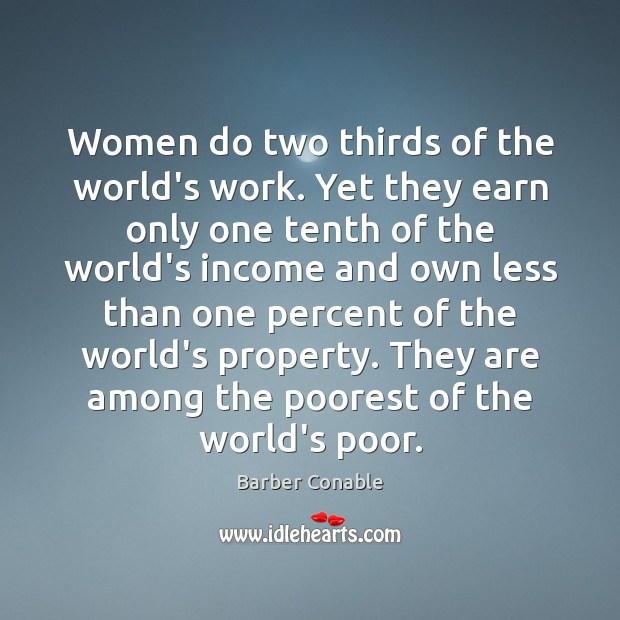 Image, Women do two thirds of the world's work. Yet they earn only