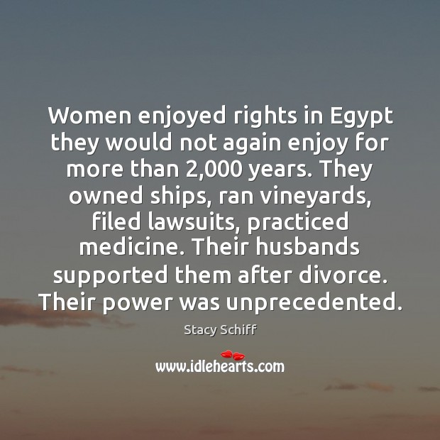 Image, Women enjoyed rights in Egypt they would not again enjoy for more